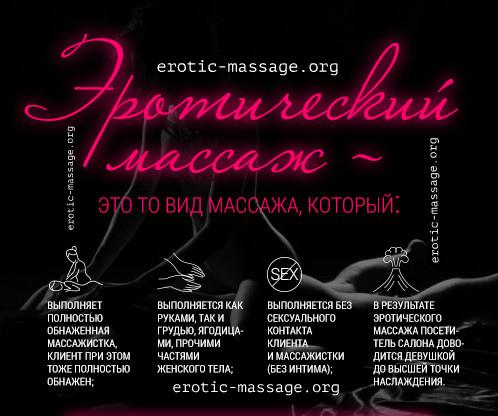 Что такое эротический массаж. Инфографика.